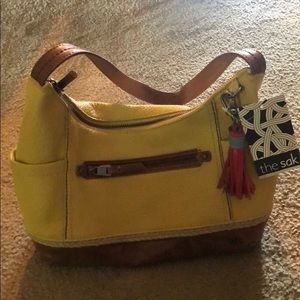 The sak leather Kendra bag- pale yellow
